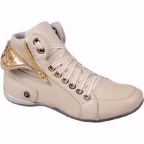 Tênis Feminino Stilo Sneaker Couro Legitimo Franca Frete Gra