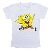 Camiseta Infantil / Criança Desenho Bob Esponja