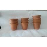 10 Vasos De Ceramica Cru-tamanho Médio-barro-cachepot-lembr