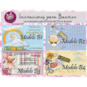 Invitaciones Impresas Para Bautizo Hermosas