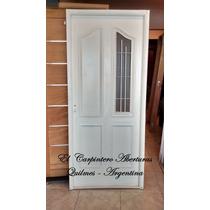 Puerta Chapa Doble Inyectada 1/4 Reja Con Vidrio Incluido