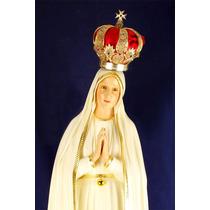 Escultura Imagem Nossa Senhora De Fátima -120cm Frete Grátis