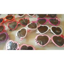 Kit 10 Óculos Infantil Sol Modelo Coração Com Laço Atacado