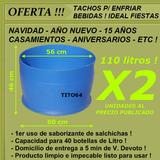 2 Tachos Medio Tanques P Enfriar Bebidas Capac.total 220 Lts