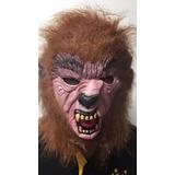 Mascara Halloween Latex Hombre Lobo Cotillon