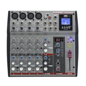 Phonic Am440dp Mezclador Compacto De Audio Efectos Digitales