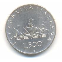 Moneda Italia 500 Liras 1961 De Plata Excelente Estado