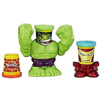 Juguete Play-doh Smashdown Hulk Con Marvel Can-jefes W2