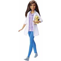 Barbie Morena Veterinaria Com Cachorrinho - Mattel