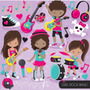 Kit Imprimible Rock Stars Imagenes Clipart Cod 4