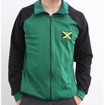 Jaqueta Helanca - Reggae - Bandeira Da Jamaica - Poliamida