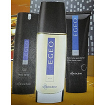 Kit Egeo Man Boticário - Colônia, Body Spray E Pós Barba