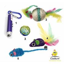 Kit 5 Brinquedos Para Gato Ratinho Bola Laser P/gato