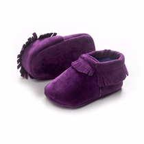 Zapatos Mocasines Para Bebé Color Uva Talla 12 Envio Gratis