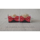 Promoção!! 100 Forminhas Lacinhos Minnie Vermelha