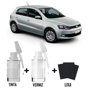Tinta Tira Risco Automotivo Volks Gol G5 Cor Prata Sirius