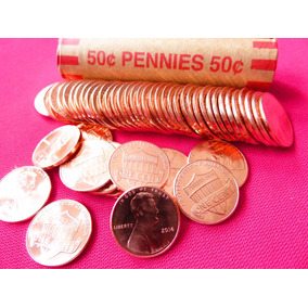 50 Monedas Lincoln Cent Shield Año 2014 Rollo Nuevo Unc