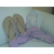 Sandádias Havaianas Personalizadas Com Pedrarias