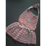 Vestido Em Crochê Para Bebês De Até 6 Meses