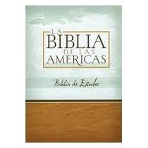 Biblia De Estudio Las Americas Imitación Piel C/indice Negro