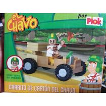 Figura Chavo Del Ocho Carrito De Carton Armable