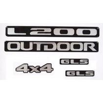 Adesivos Resinados L200 Outdoor 4x4 + Lateral Gls