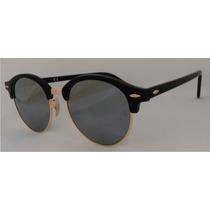 Lentes Ray Ban Clubround Rb 4246 901/30 Black Silver Mirror