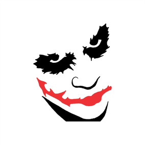 Adesivo Batman Coringa Joker Mod 2 - 10x8cm