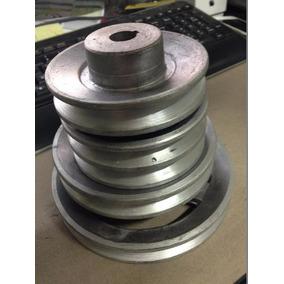 Polea De Aluminio Industrial Para Banda Motor Eje 6 Pulgadas
