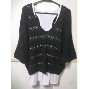 Sweater De Hilo Con Lurex Dorado. Marca Express Usa.