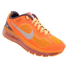 Tênis Infantil Nike Air Max 2013 Laranja E Prata