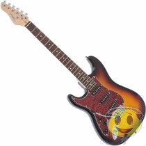 Guitarra Giannini G-100 Lh Strato Canhota Standard Kadu Som