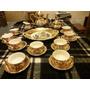 Juego De Te Aleman Bavaria Porcelana Recubrimiento Oro