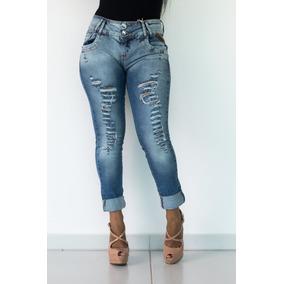 Calça Feminina Jeans Oppnus Cigarrete Cós Médio 2504