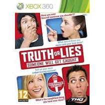 Jogo Game Truth Or Lies Xbox 360