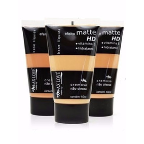 Base Líquida Matte Hd Max Love Não Oleosa 40ml = Dailus Vult