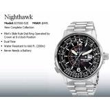 Citizen Nighthawk Eco-drive Bj7000-52e Garantía 12 Cuotas !!