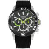 Reloj Hombre Prototype Ypcw 9788 Acero Caucho 100m W Envio