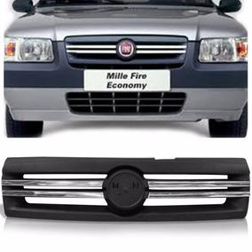 Grade Fiat Uno Mille Fire Economy 2009 2010 11 Friso Cromado
