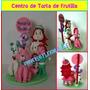 Centro De Torta De Fresita / Frutilla En Masa Flexible