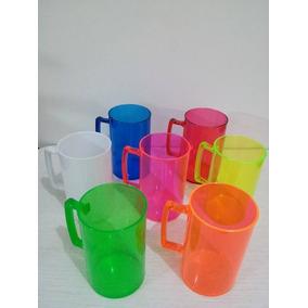 200 Canecas De Acrílico Coloridas Lisa P/personalizar 300ml