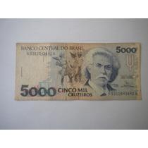 Billete Antiguo Brasil 5000 Cruzeiros