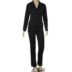 Conjunto Executivo / Blazer + Calça + Saia Two Way Preto