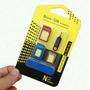 Adaptador Cartão Sim Nano Celular Tablet Micro Aluminio