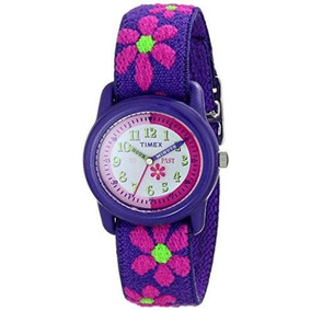 Timex Niñas Reloj Del Tiempo Analógico Tela Elástico Correa
