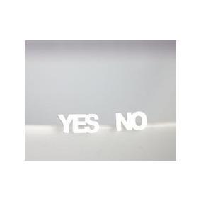 Aros Yes No Plateados En Cajita De Regalo