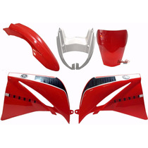Kit Carenagem Xt660 Vermelha + Acrilico Bombachini Jet&cross