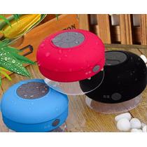 Caixa Som Bluetoot Prova Dágua Com Ventosa Bts-06
