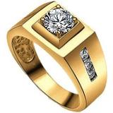 Soberbio Anillo Caballero Oro 14k. & Diamantes Envío Gratis