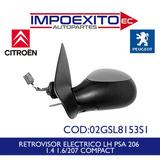 Retrovisor Electrico Lh Peugeot 206 - 207 Compact Todos